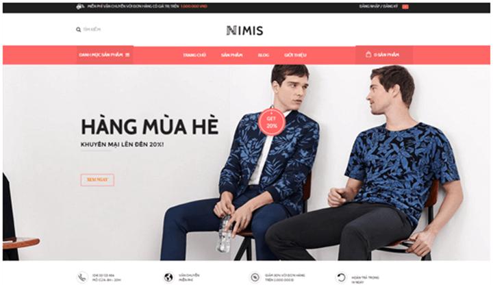 thiết kế web bán hàng thời trang